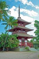 lahaina jodo mission på maui ön hawaii foto