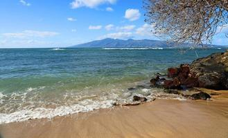 utsikt vid molokai från kapalua foto