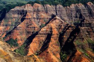 klippor av Waimea Canyon foto
