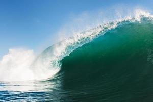 blå hav våg foto