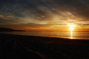 solnedgång på havet