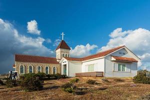 kyrka i seopjikoji mount jeju ö, Sydkorea foto