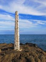 pelaren strandlinjemarkör foto