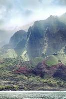 na Pali kusten i Kauai Hawaii foto