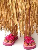 hula kjol och flip flops foto