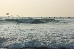 tidvatten i Karibiska havet foto