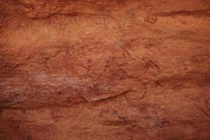 höhlenmalerei in der algerischen sahara foto