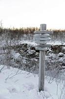 vintern i abisko nationalpark foto