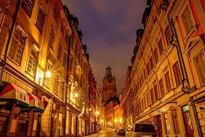 stockholm på natten foto