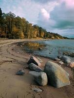 höst på stranden foto