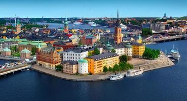 panorama över stockholm, sverige foto