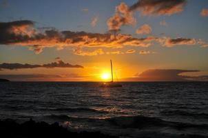 solnedgång på maui - hawaii foto