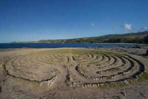 labyrint nära drakens tänder, maui, hawaii foto