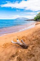 makena beach, berömd turistmål i maui, hawaii foto