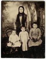 vintage familjeporträtt.