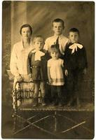 familj. vintage porträtt. foto