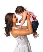 spansktalande mor och dotter foto