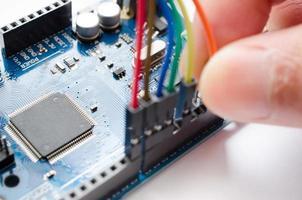 PCB och chips foto