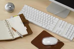 skrivbord bild på kontoret foto