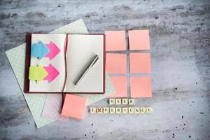 designer skrivbord med få element foto