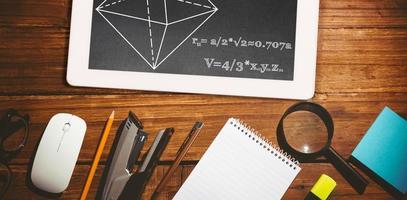 sammansatt bild av matematiska problem foto