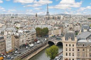panoramautsikt över paris foto