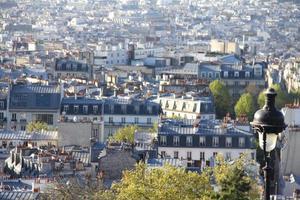 panorama av paris foto