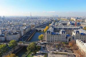 Flygfoto över Paris foto