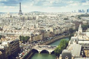 utsikt över Paris, Frankrike foto