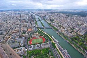 paris, flygfoto