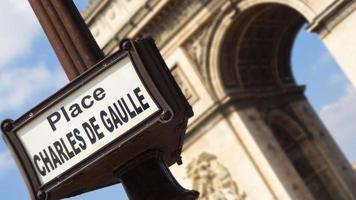 arc de thriomphe i Paris, Frankrike foto
