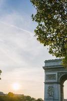 triumfbåge, paris, Frankrike foto