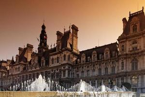 paris rådhus i chatelet foto