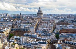 panorama över paris, med utsikt över pantheon foto