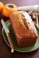 persimmon cake loaf foto