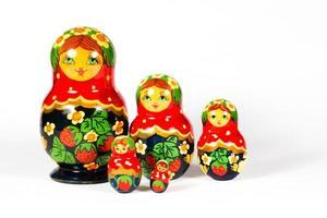 familj ryska dockor foto