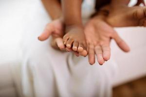 familj, kärlek och omsorg koncept foto