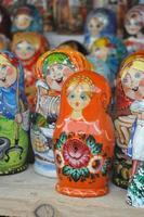 familj av matryoshka docka från Ryssland foto