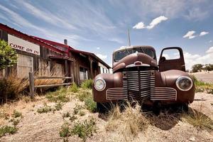 övergivna restaurang på väg 66 väg i USA foto