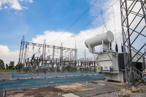 krafttransformator i substation 115 kv / 22 kv foto