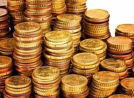 gyllene mynt foto