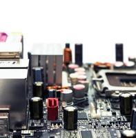 elektronik baseboard makro foto