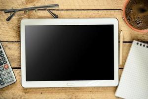 TabletPC med tom skärm foto