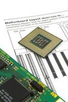 CPU och styrelse foto