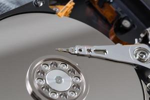 internals i en hårddisk HDD. foto