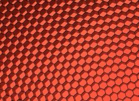 närbild av svart nät. rött ljus.