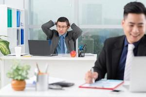 frustrerad chef foto