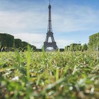 Eiffeltornets landmärke i Paris, Frankrike foto