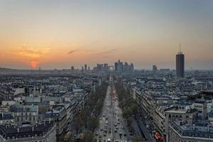 Paris och dess finansiella distrikt foto