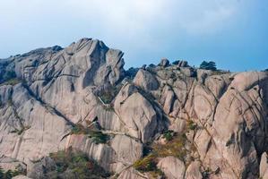 vackert landskap av monteringen Huangshan i Kina foto